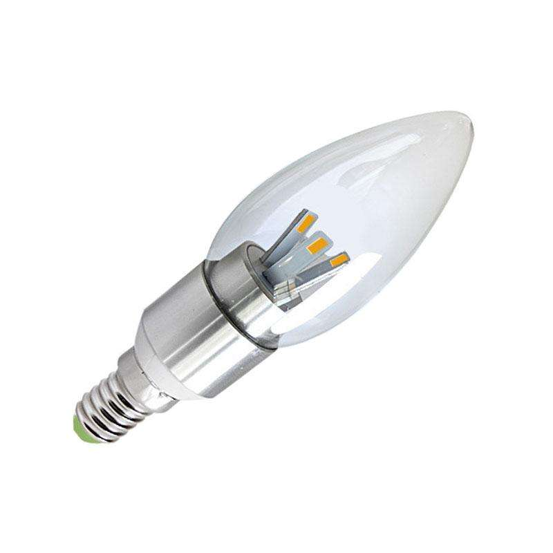 Bombilla LED E14 clear 3W, Blanco neutro